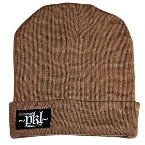 PKL Box Logo Beanie Hat In Sand Colour
